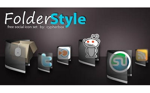 Folder Style free social Icon set