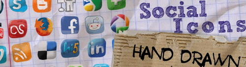 Social Icons hand drawn