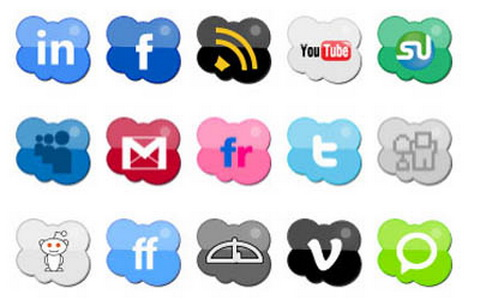 Nuovo set Social icons