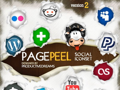 Page Peel Social Icons
