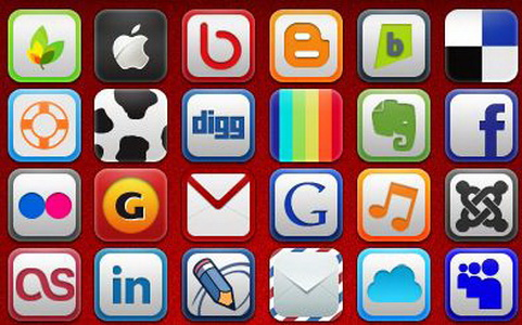 26) 57 Social and Web Icons