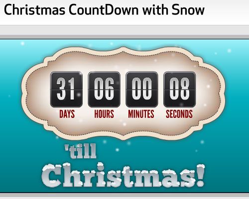 2010 Christmas CountDown with Snow