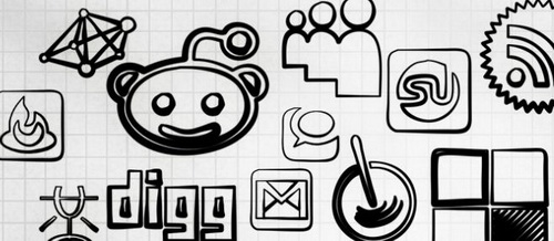 108 Magic Marker Social Icons