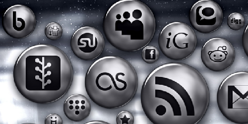 108 Silver Sphere Button Social Media