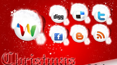 Christmas special - 30 Free Social Networking Icons