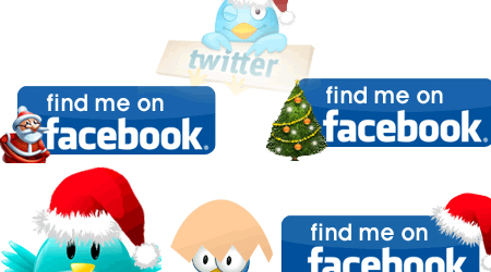 Free animated Twitter and Facebook icons