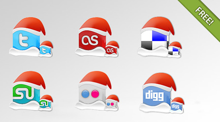 PSDFAN Exclusive Christmas Icon Set