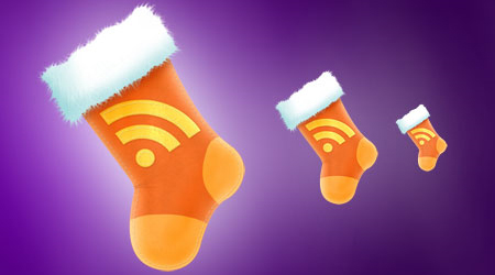 RSS Christmas Stocking Icon