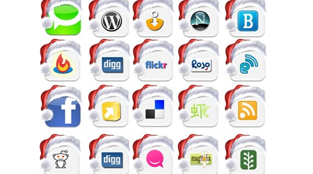 Social Web 2.0 icons for Christmas