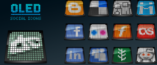 21 OLED social media icons