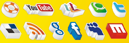 20 Amazing 3D social media icons