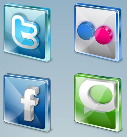 10 High Resolution Social Media icons