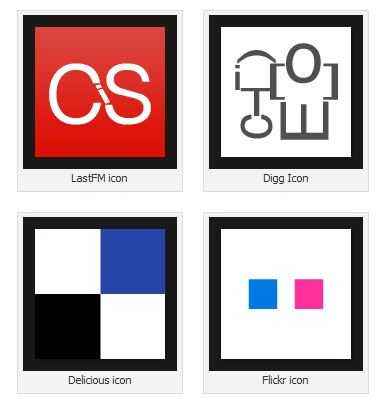 8 Free typography social icons