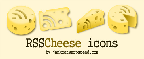 RSS Cheese - A free icon set you can taste