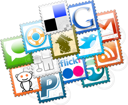 13 Social Post Stamps icons