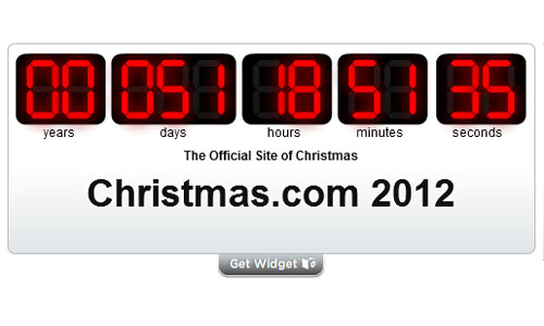 2012 Christmas Countdown Clock