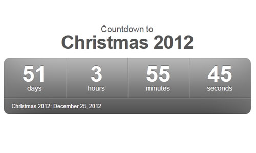 Countdown-to-Christmas Web Clock