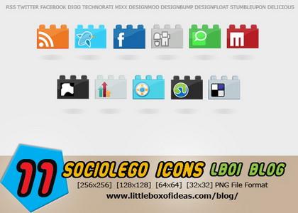 11 Socio LEGO icons
