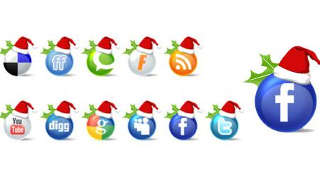 26 Free Social Media Icons for Christmas