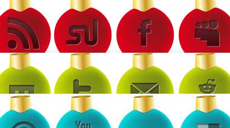 36 Free social media Christmas icons