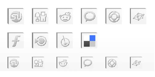 Bevel Lite: 10 Free Social Icons
