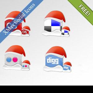 Christmas 2010 Social icons