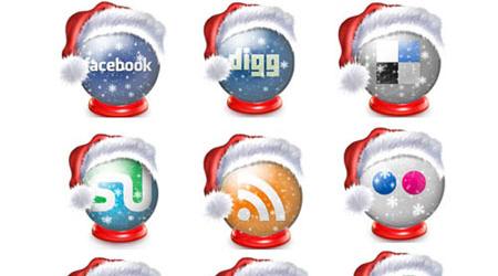 Free Holiday Social Media Icons