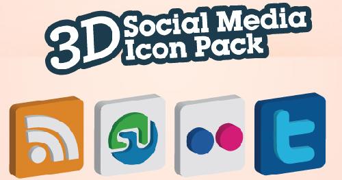 20 3D Social Media Icons