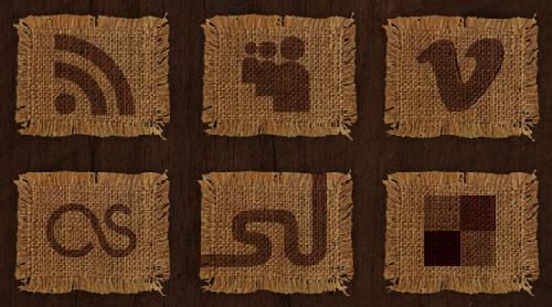 26 Woven Fabric Social Media Icons