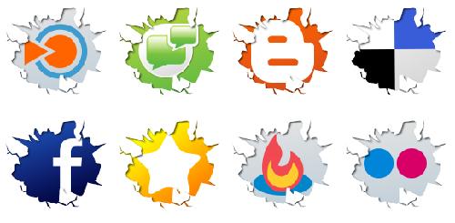 32 IconTexto Web 2.0 Inside Social Media Icons
