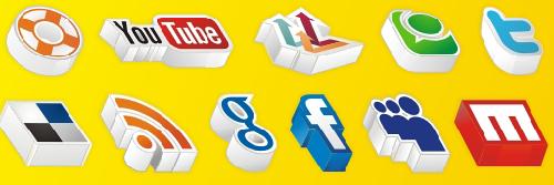 20 Amazing 3D social media icons
