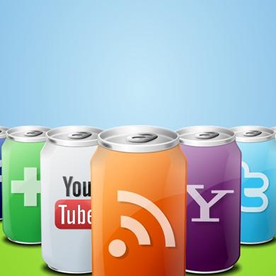 27 IconTexto Drink Web 2.0 Social Media Icons