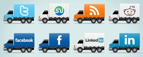 10 Trucks Social Media icons