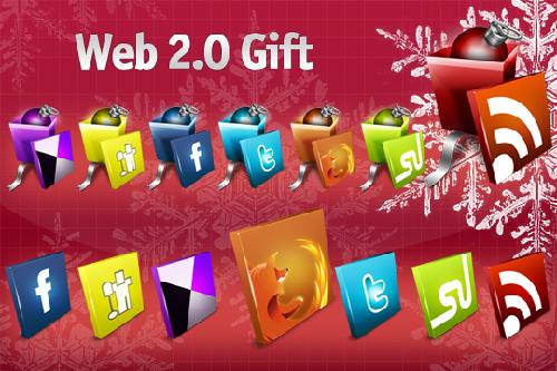 14 Free Web 2.0 Gift Social icons
