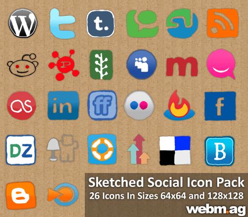 26 Exclusive WebMag Social Media Icons